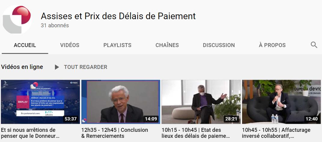 Assises des délais de paiement sur la région Ile-de-France le 5 mai 2021 – Replays des ateliers et des conférences